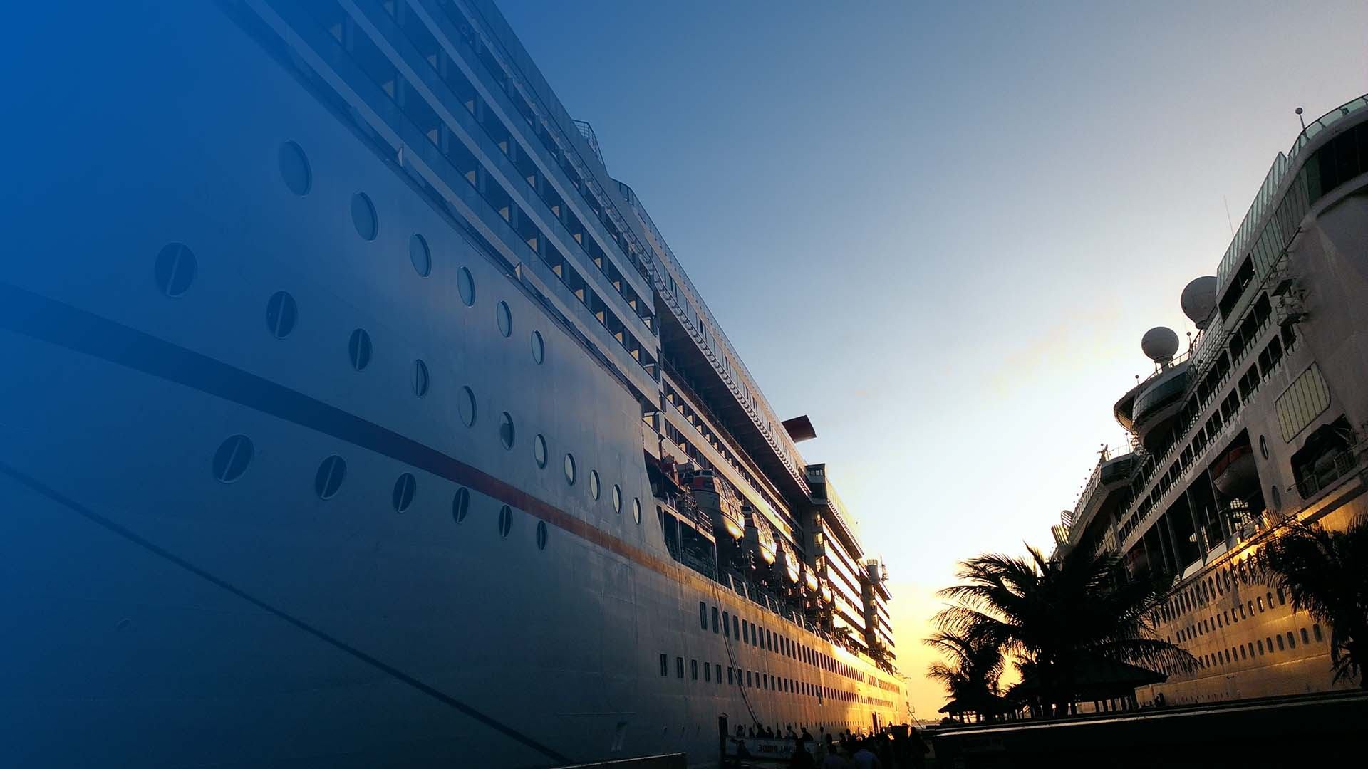 Cruise Ships at Port Image