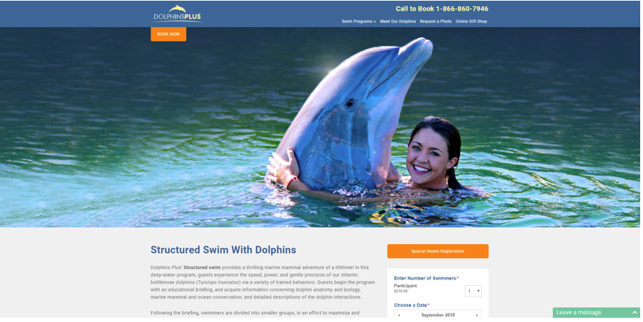 dolphins-plus-landing-page-with-CTA